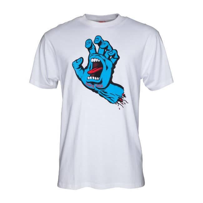 Santa Cruz Santa Cruz T Shirt Screaming Hand White L ADULT