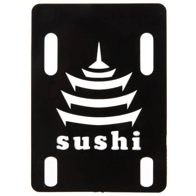 """Sushi Sushi Riserpads 1/8""""  Hard Black Set of 2"""