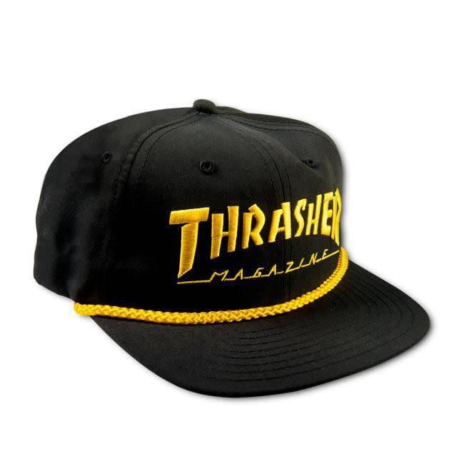 Thrasher Thrasher cap Logo Rope snapback black yellow