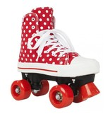 Rookie Rookie rollerskates canvas red white polka dots 36.5