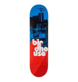 Birdhouse Birdhouse Logo Deck Stacked Blue/Red 8 IN