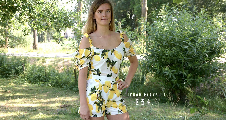 Lemon playsuit