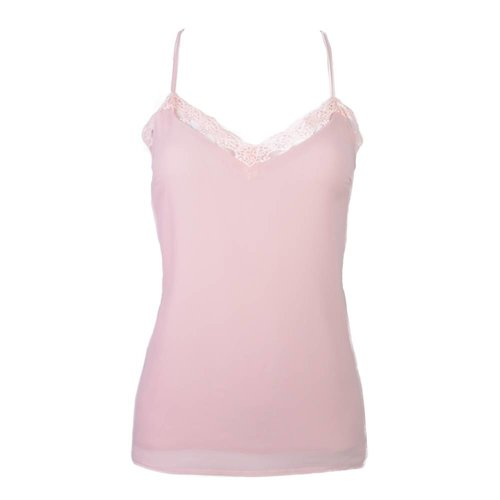 LACE SINGLET PINK
