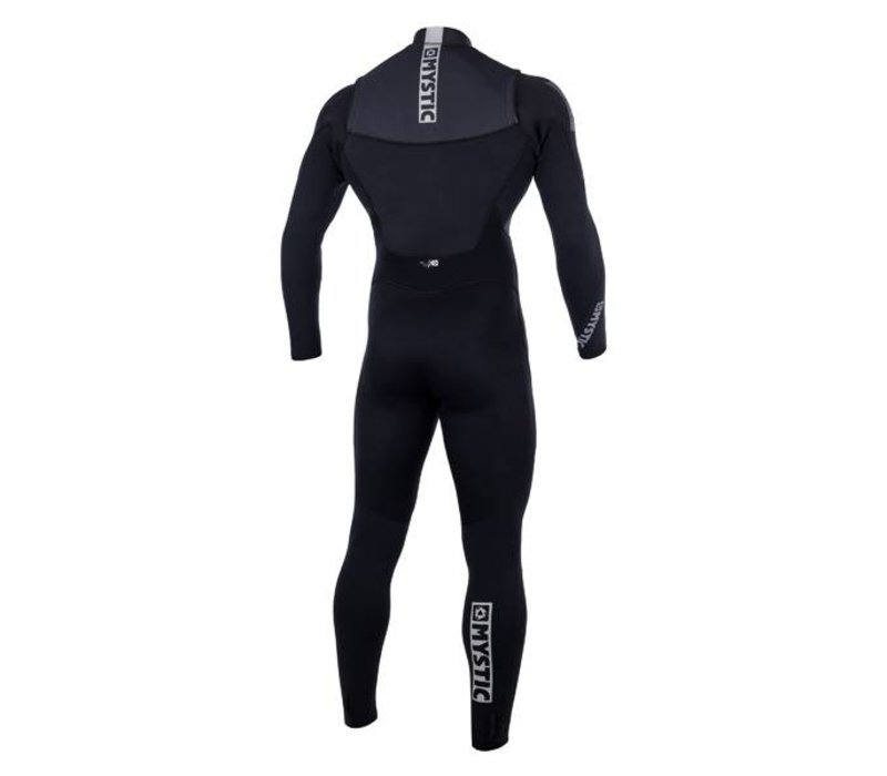 Mystic Star Fullsuit 5/4mm Double Fzip black/white