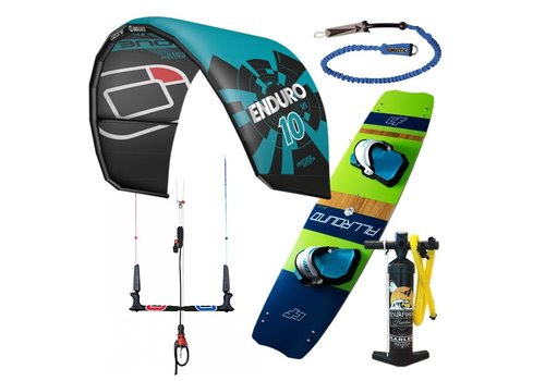Kitesurfshop Haarlem Kitesurfset Ozone Enduro + Ozone Bar 2017 + CF Allround Board 2017 + Pump + Leash + 1 Jaar Repair Garantie