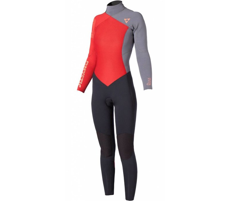 Mystic 2016 Diva Backzip  5.4 mm. Coral Women Wetsuit XS