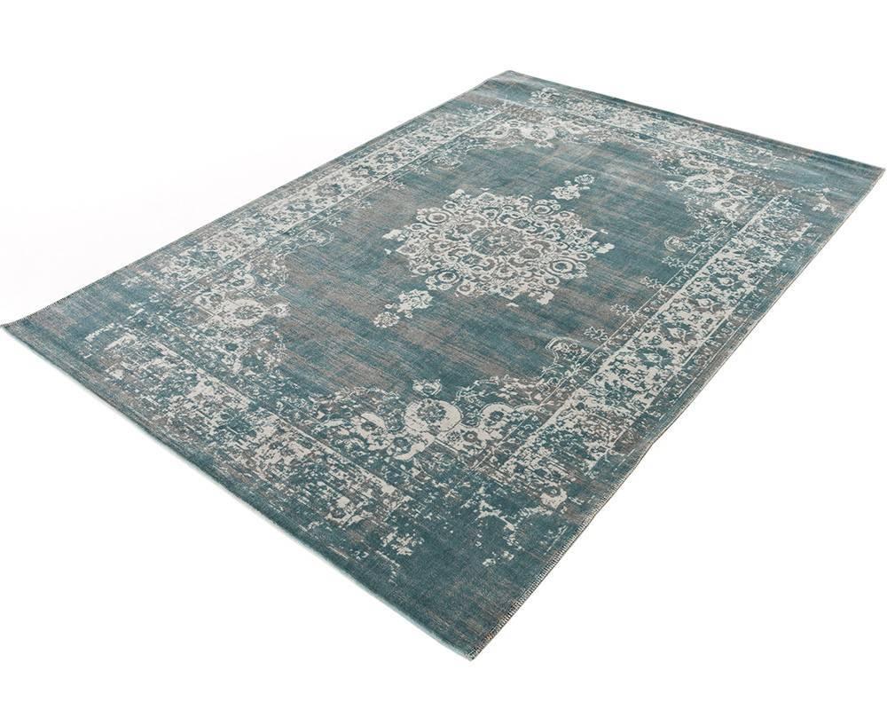 Home living vloerkleed classic grijs blauw de woonwinkelier - Oosters stof ...