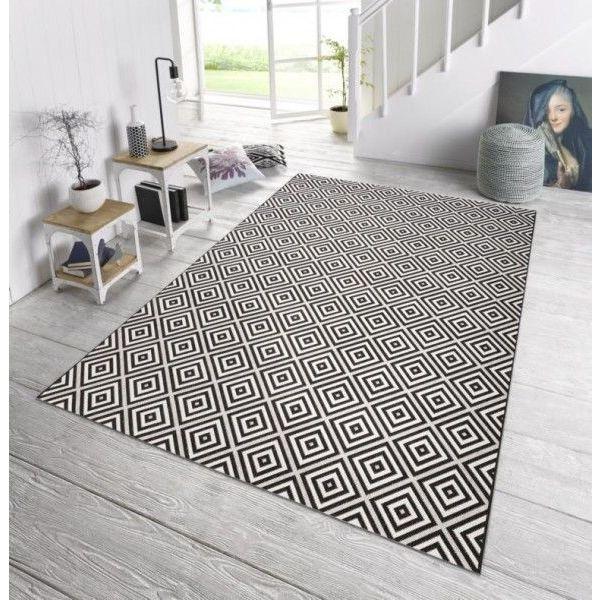 Bougari Buiten vloerkleed Karo - Zwart 102470