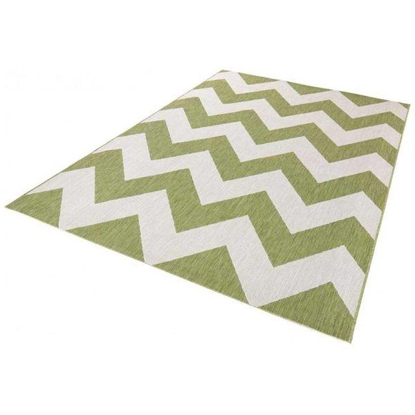 Bougari Buiten vloerkleed Unique - Groen/beige 102736