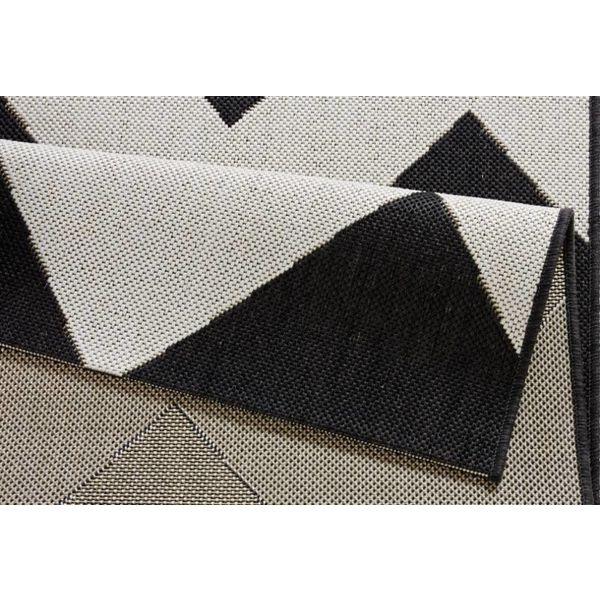 Bougari Buiten vloerkleed Unique - Zwart/creme 102738