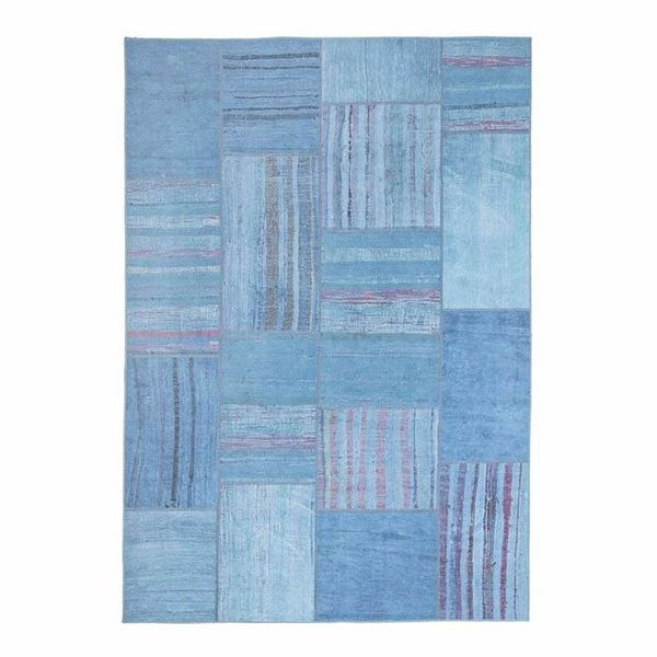 Vloerkleed patchwork Moods Blauw Multicolor No.14