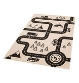 Kinder vloerkleed Ella - auto map