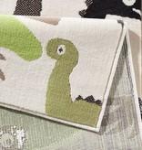 Zala living Kindervloerkleed Nala - dinosaurus groen/bruin