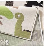 Zala living Kinder vloerkleed Nala - dinosaurus groen/bruin