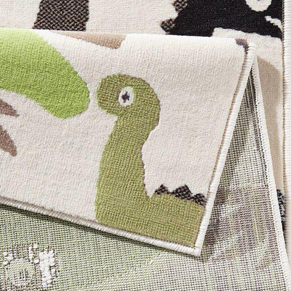 Kinder vloerkleed Nala - dinosaurus groen/bruin
