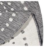 Rond Vloerkleed Twin Dot - Grijs/Creme