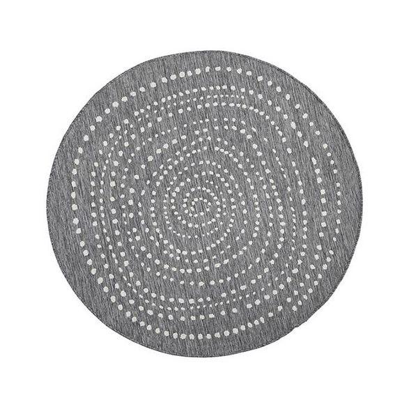 Bougari Rond Vloerkleed Twin Dot - Grijs/Creme