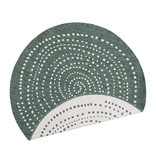 Bougari Rond Buitenkleed Twin Dot - Groen/Creme