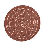 Bougari Rond vloerkleed Twin Dot - Terra/Creme
