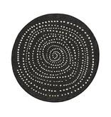 Bougari Rond Vloerkleed Twin Dot - Zwart/Creme