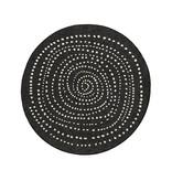 Bougari Rond Buitenkleed Twin Dot - Zwart/Creme