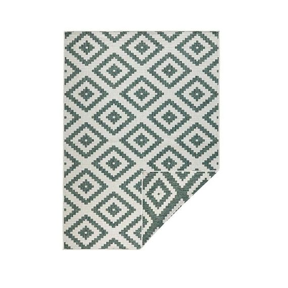 Bougari Buitenkleed Twin Diamond - Groen/Creme