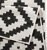 Bougari Buitenkleed Twin Diamond - Zwart/Creme