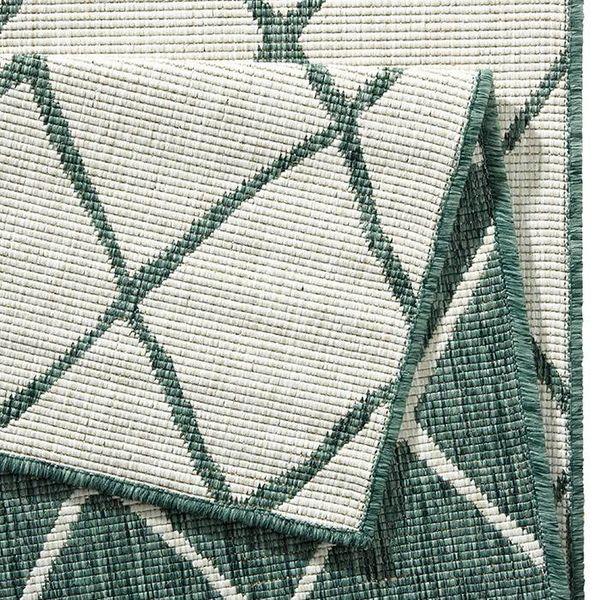 Bougari Vloerkleed Twin Lines - Groen/Creme