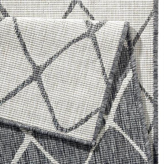 Bougari Vloerkleed Twin Lines - Grijs/Creme