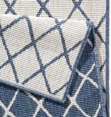 Bougari Buitenkleed Twin Lines - Blauw/Creme