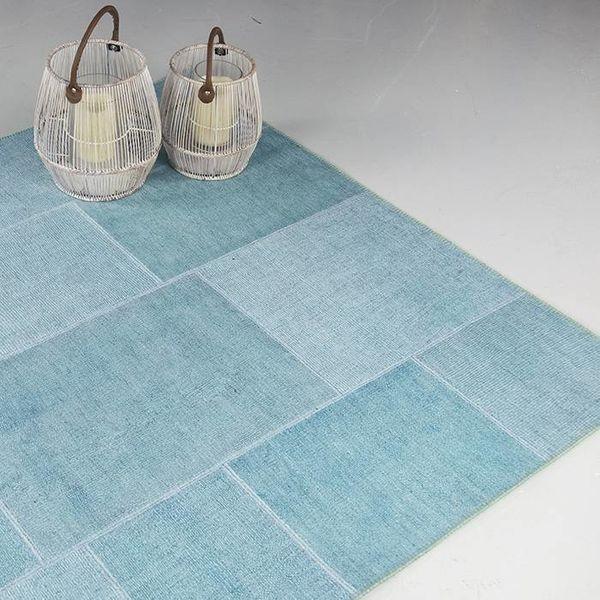 Brinker carpets Vloerkleed patchwork Moods Zee blauw No.08