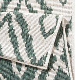 Vloerkleed Twin Ruit - Groen/Creme