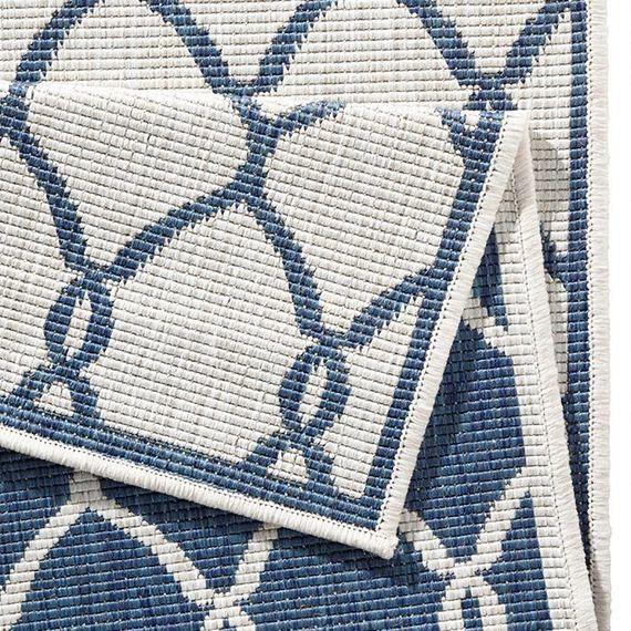 Bougari Vloerkleed Twin Circle - Blauw/Creme