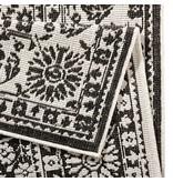 Vloerkleed Twin Barok - Zwart/Creme
