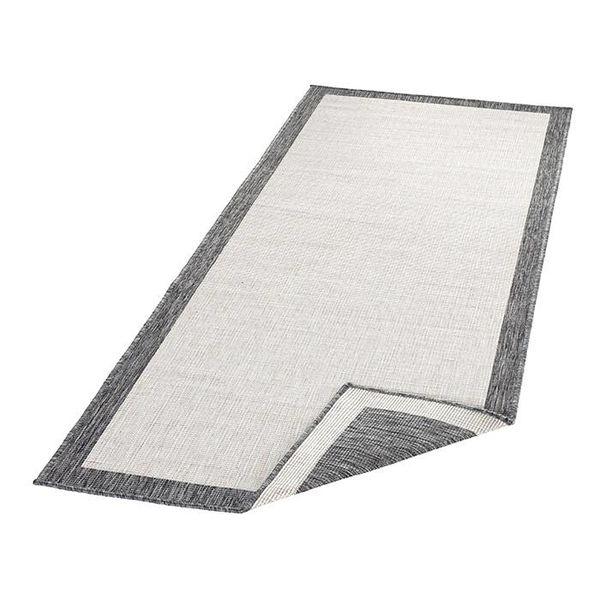 Vloerkleed Twin Square - Grijs/Creme