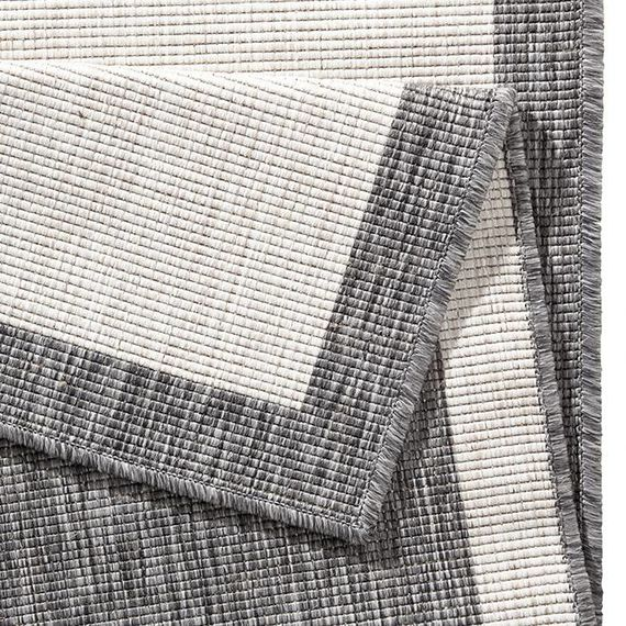 Bougari Vloerkleed Twin Square - Grijs/Creme