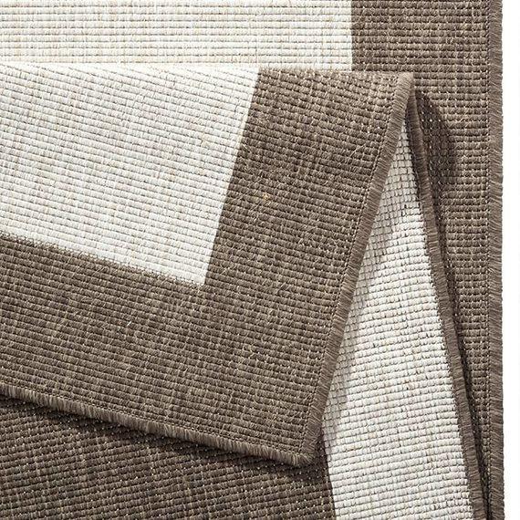 Bougari Vloerkleed Twin Square - Bruin/Creme