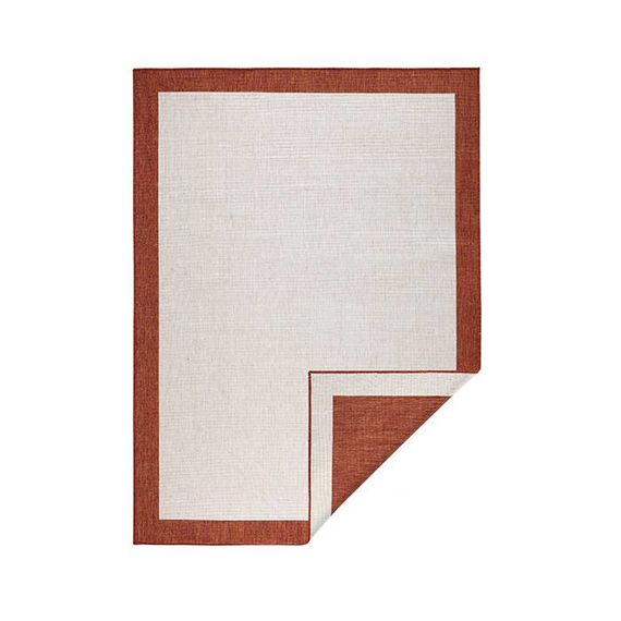 Bougari Vloerkleed Twin Square - Terra/Creme