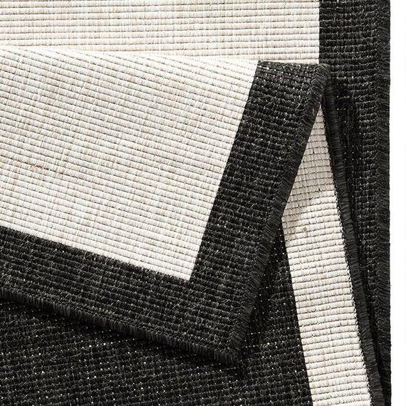 Bougari Buitenkleed Twin Square - Zwart/Creme