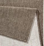Bougari Vloerkleed Twin Solid - Bruin/Creme