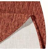 Bougari Rond Buitenkleed Twin Solid - Terra/Creme