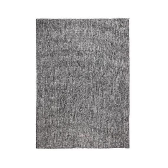 Bougari Vloerkleed Twin Solid - Grijs/Creme