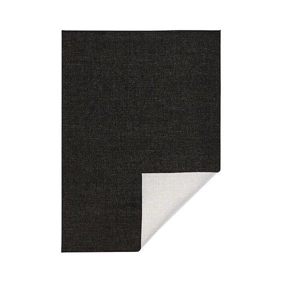 Bougari Vloerkleed Twin Solid - Zwart/Creme