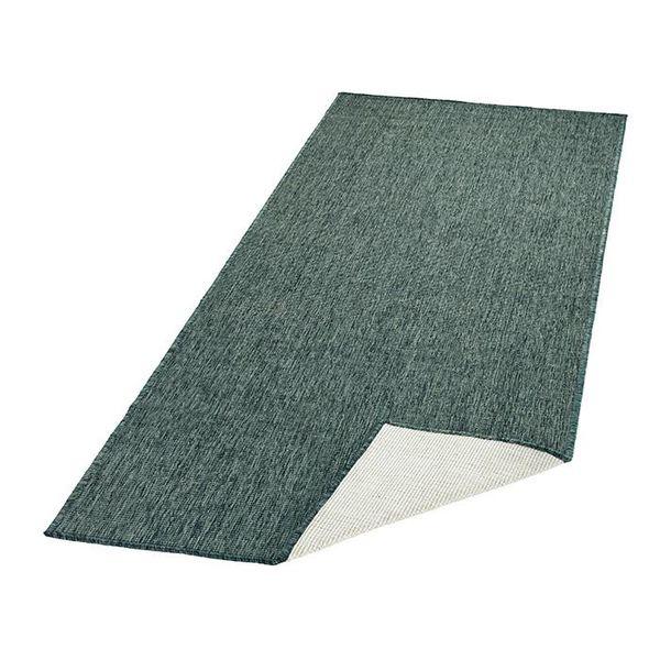 Vloerkleed Twin Solid - Groen/Creme