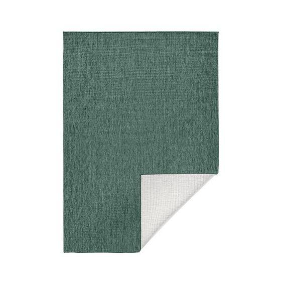 Bougari Vloerkleed Twin Solid - Groen/Creme