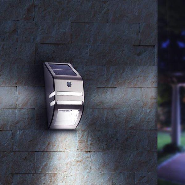 Draadloze LED buitenlamp op zonne-energie met bewegingssensor