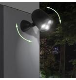 Draadloze LED buitenlamp zwart - met bewegingssensor