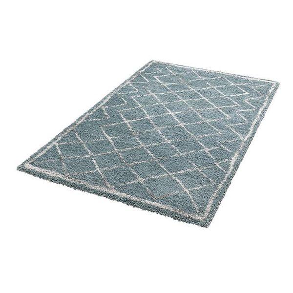 Mint Rugs Hoogpolig vloerkleed Hamar - Diamond blauw/creme