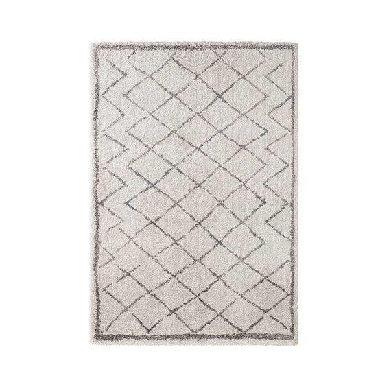 Mint Rugs Hoogpolig vloerkleed Hamar - Diamond creme/grijs