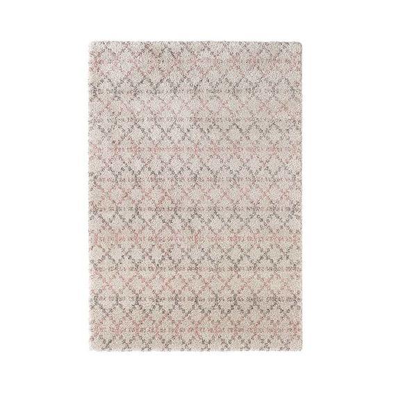 Mint Rugs Hoogpolig vloerkleed Hamar - Rustiek creme/roze